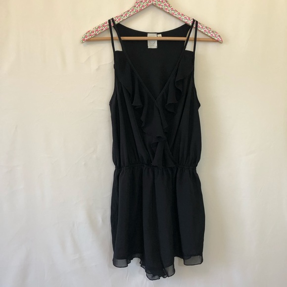 2ab5d28fefc Anthropologie Other - Anthropologie E by Eloise black ruffle romper